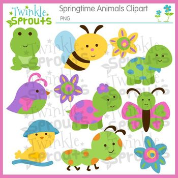 Springtime Animals Clipart.
