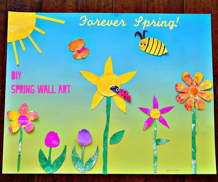 Spring Art for kids : Spring themed DIY wall art.