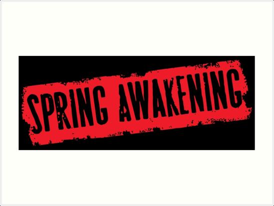 \'Spring Awakening (logo)\' Art Print by byebyesally.