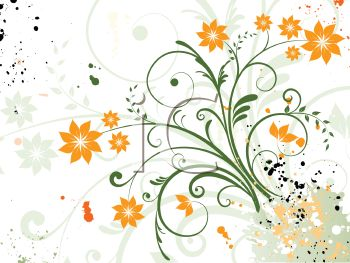 Pretty Spring Flowers Background.