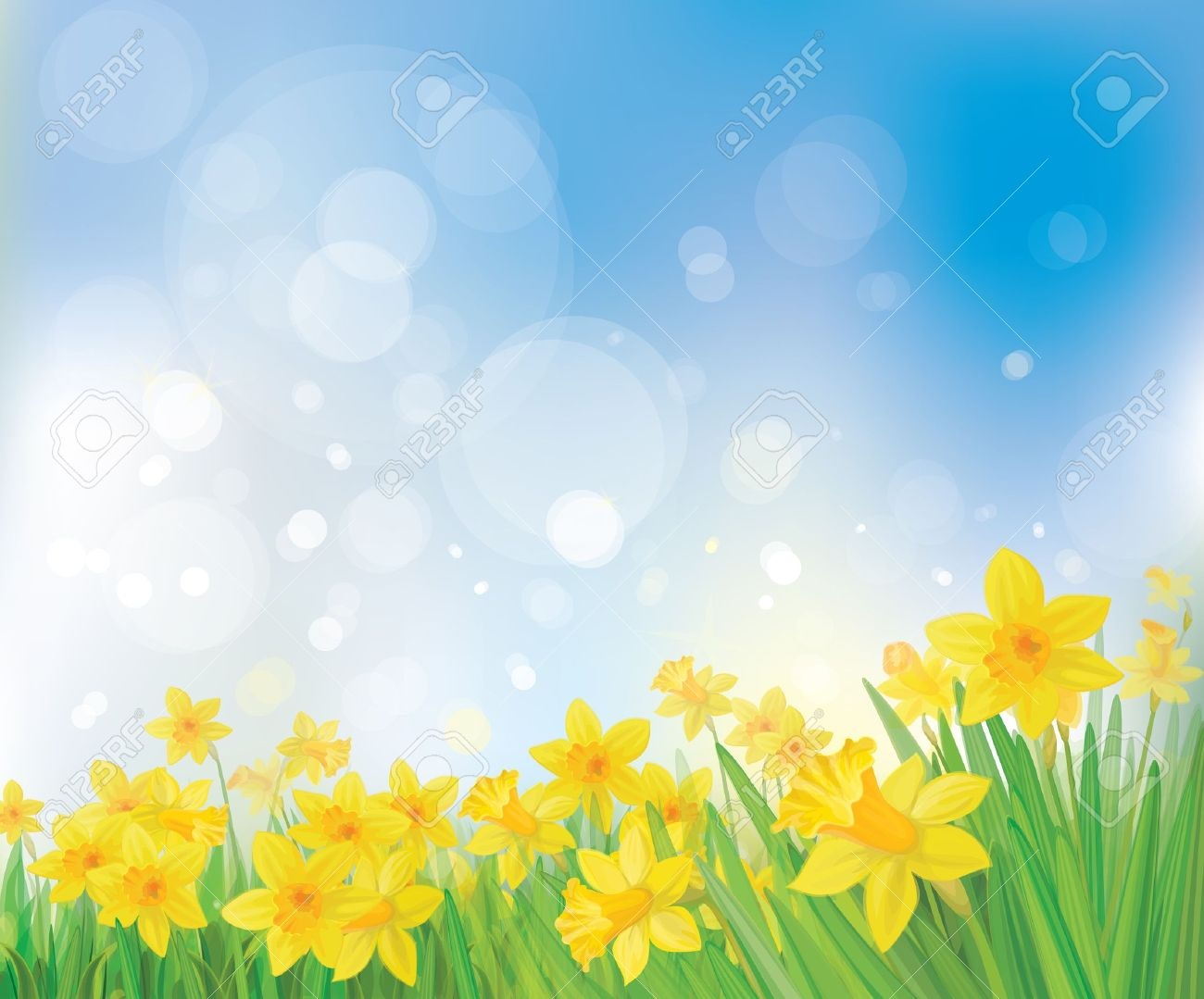Spring background clipart 2 » Clipart Station.