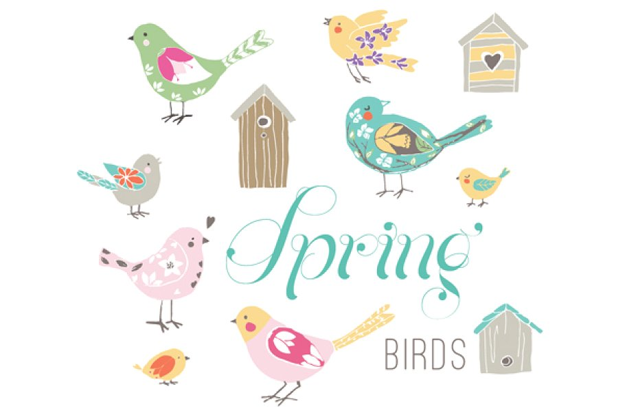 Spring Birds EPS.