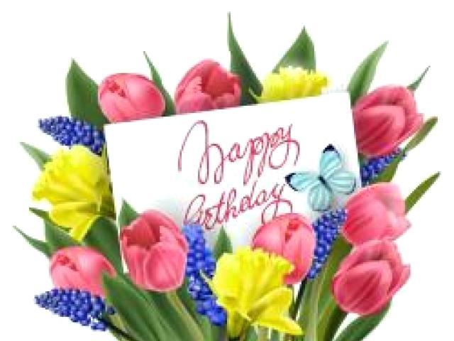 spring flowers happy birthday clipart.