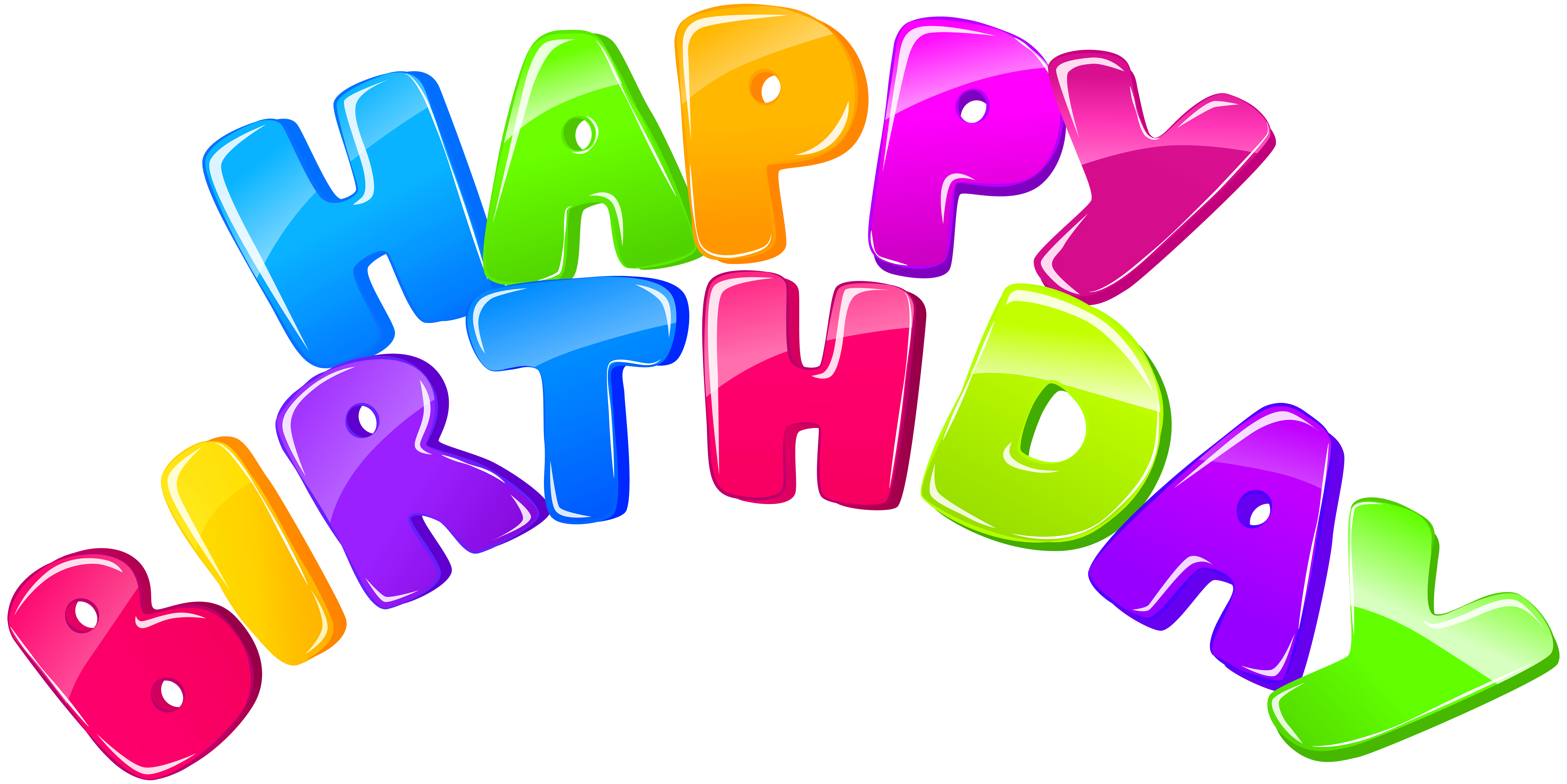 Happy Birthday PNG Clip Art Image.