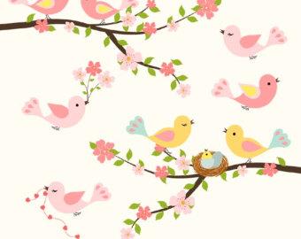 Cartoon Cherry Blossom Tree.