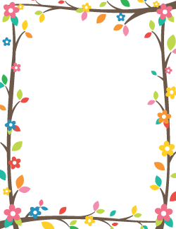 Free Spring Borders: Clip Art, Page Borders, and Vector Graphics.