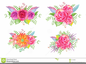 Spring Bouquet Clipart.