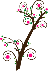Spring branch clipart #1