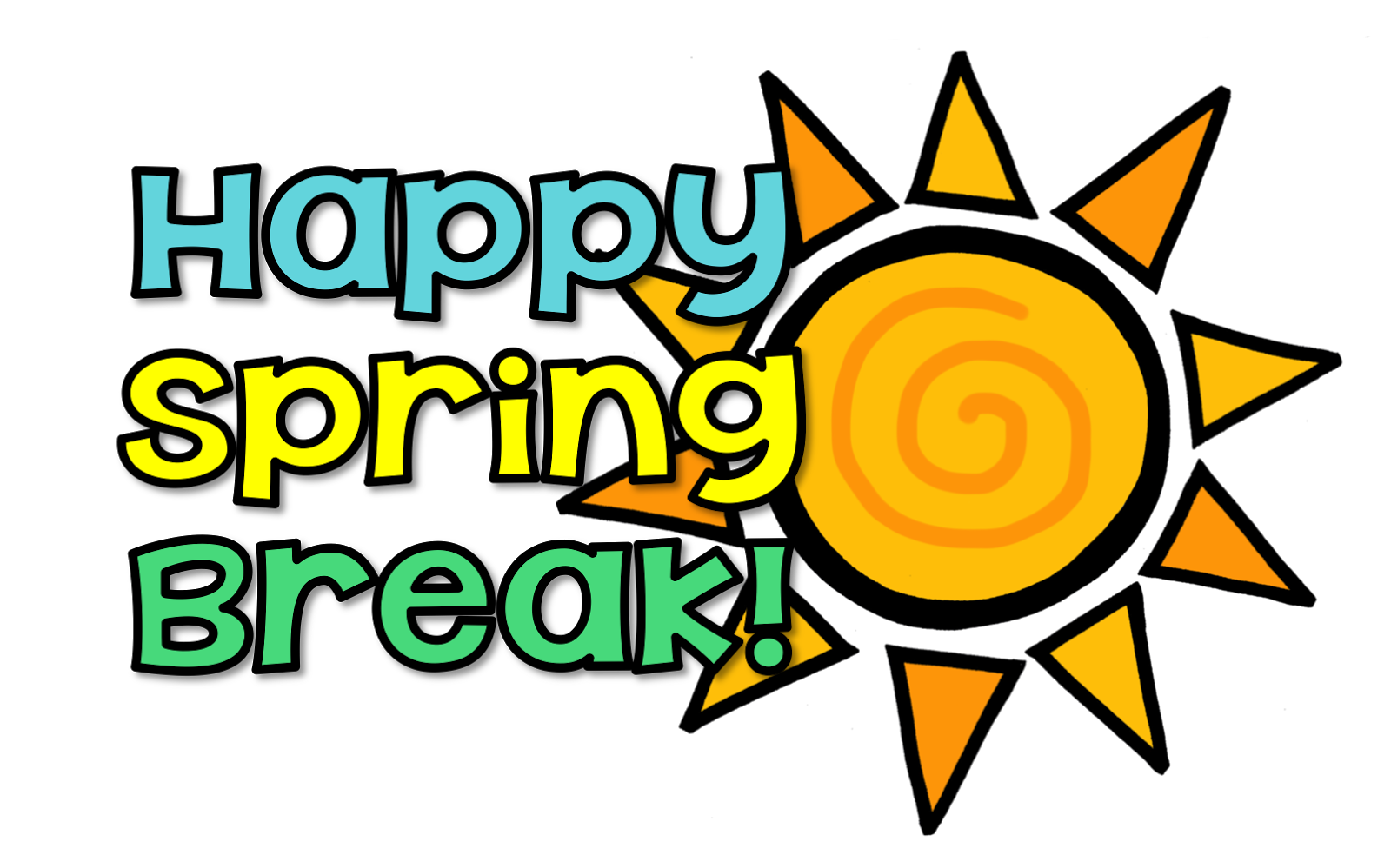 Free Spring Break Clip Art Black And White, Download Free.