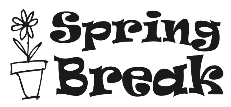 Spring Break Clipart Black And White.