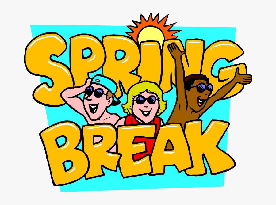 Spring Break Cartoon Fun , Free Transparent Clipart.