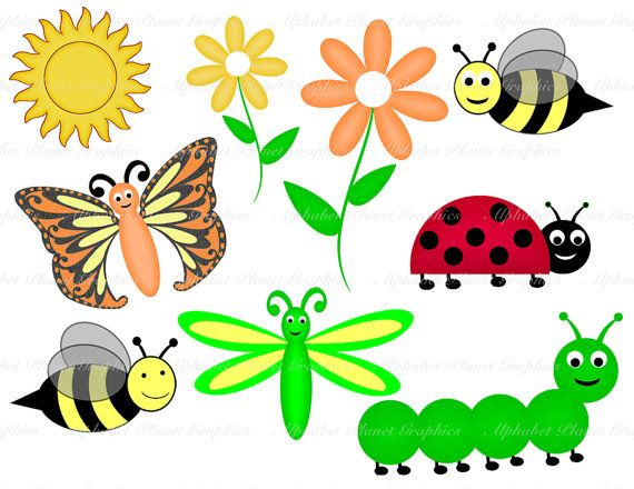 Spring Clothing Clipart Spring Ladybug Caterpillar.
