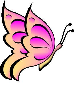 Spring Butterfly Clip Art.