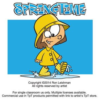 Springtime Cartoon Clipart.