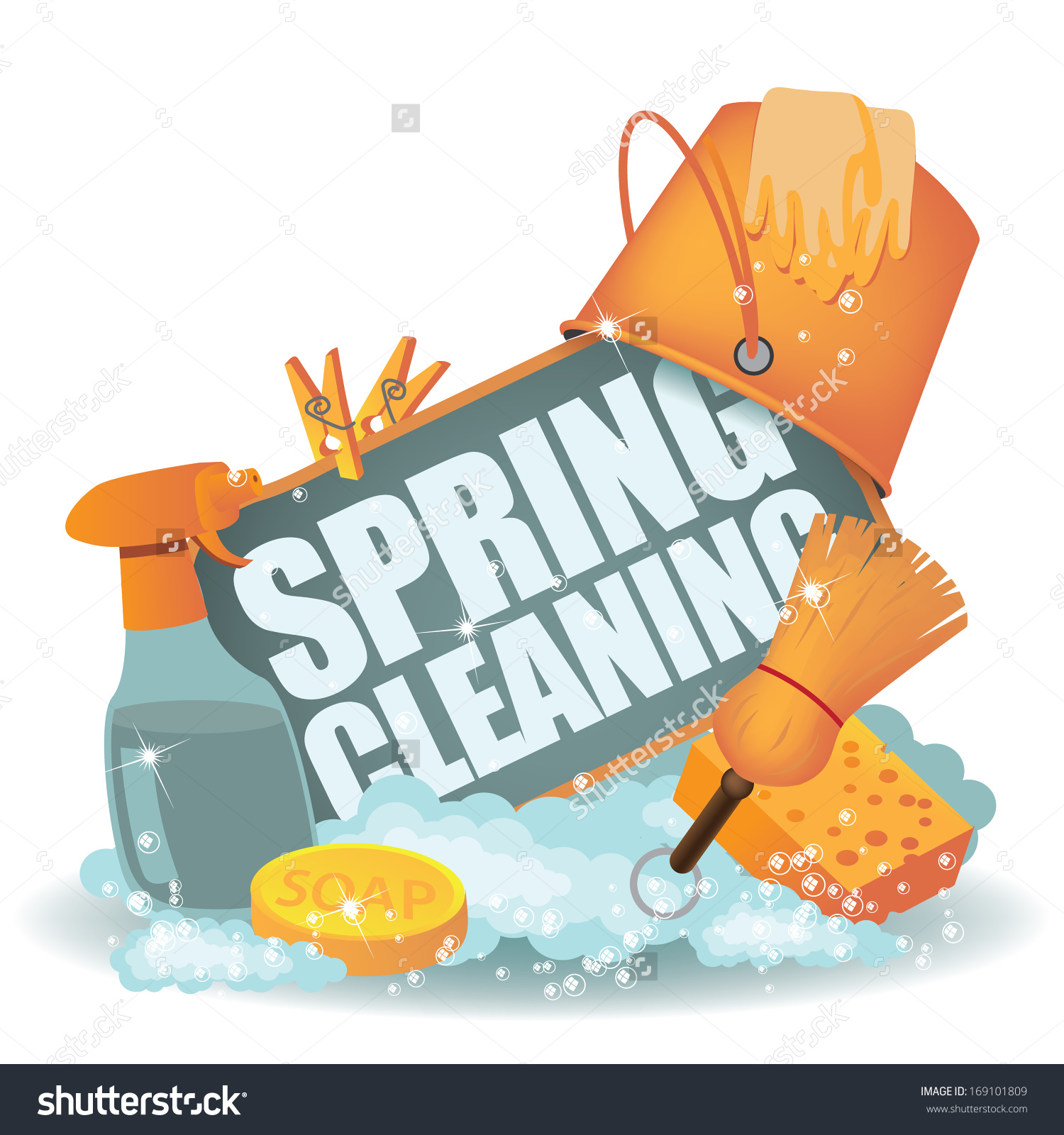31+ Spring Cleaning Clipart.