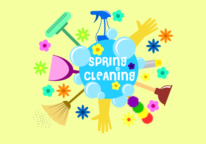 Free Spring Cleaning Vector.