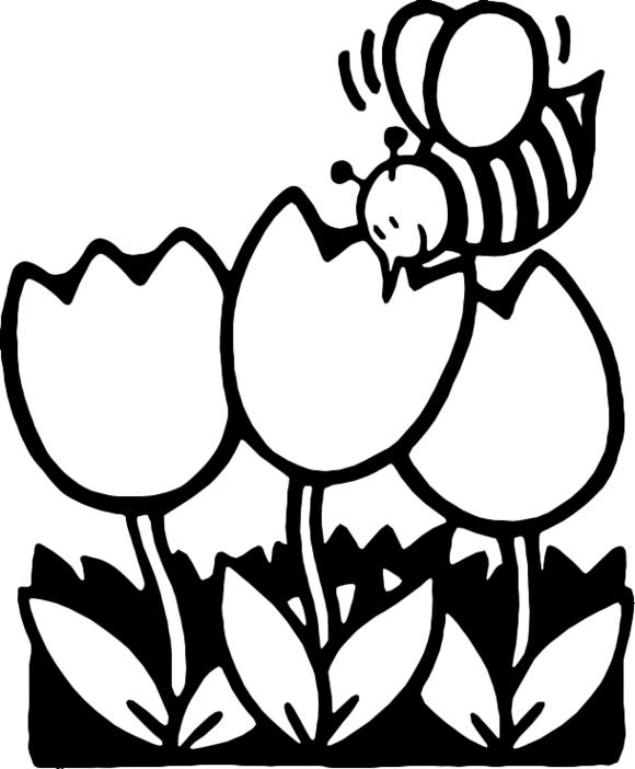 9+ Spring Clip Art Black And White.
