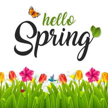 Hello Spring Png, Vector, PSD, and Clipart With Transparent.