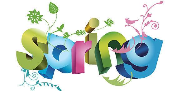 Floral Spring Background Vector.