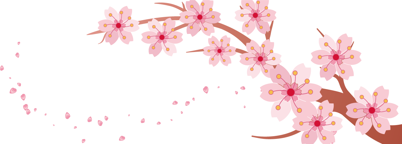 Spring Flower Banner Clipart.