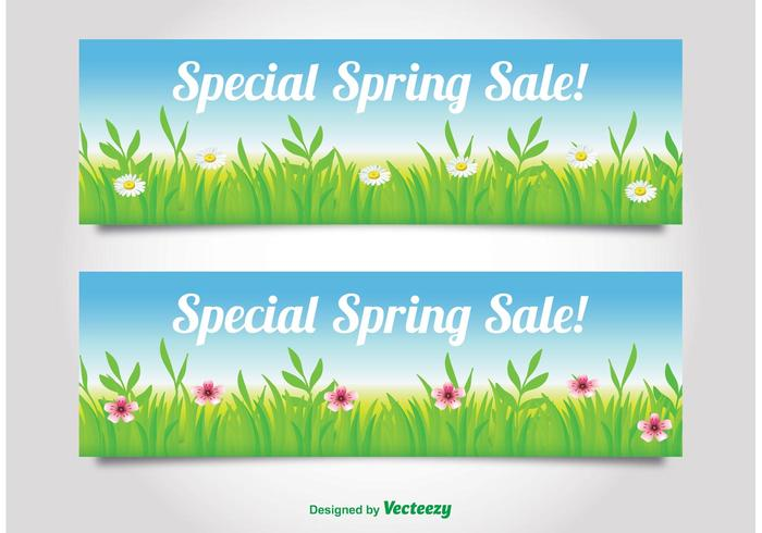 Spring Sale Banners.