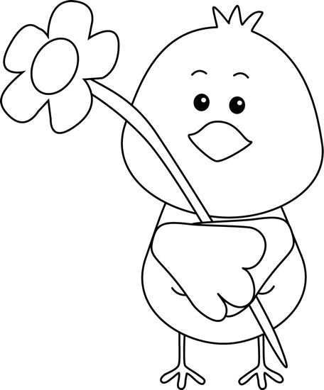 74+ Spring Clipart Black And White.