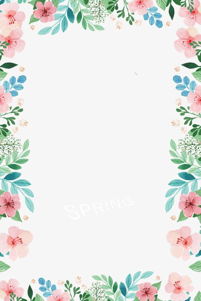 Spring Borders PNG, Clipart, Borders Clipart, Flowers, Frame.