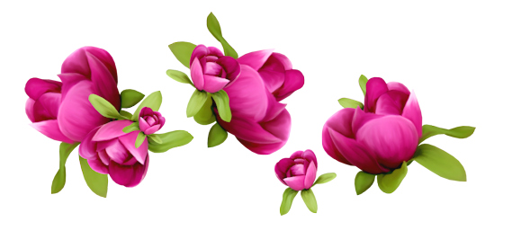 Spring Flowers Decoration PNG Clipart.