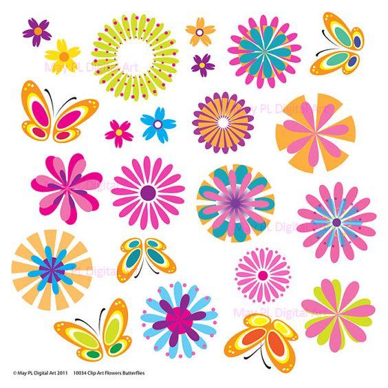 Spring flowers clip art free printable 4.
