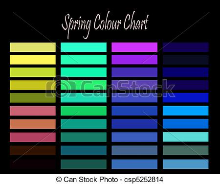 Drawing of Spring Colour Chart.