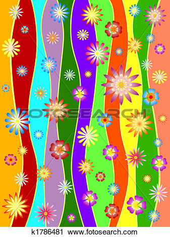 Clipart of spring in colours k1786481.
