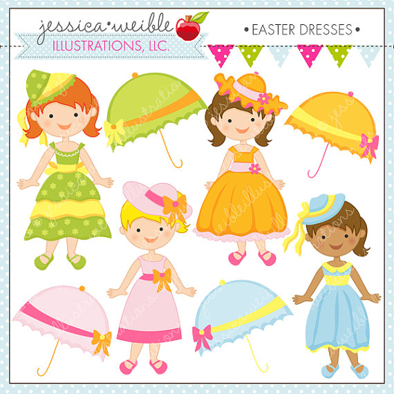 Cute outfits clipart.