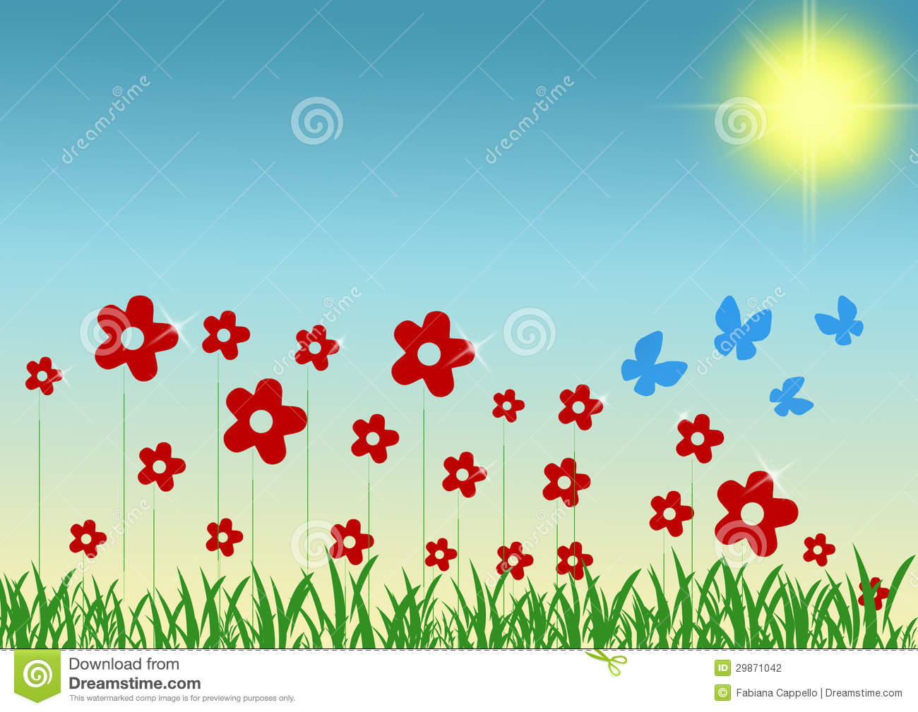Spring day clipart.