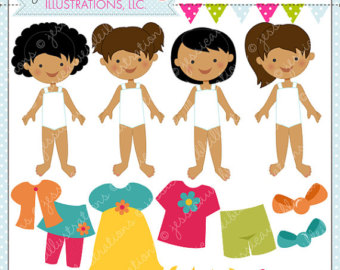Spring dress up clipart.