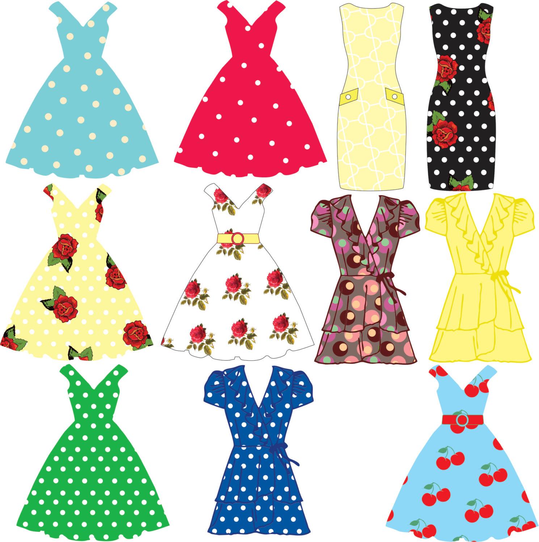 Spring Dress Clipart.