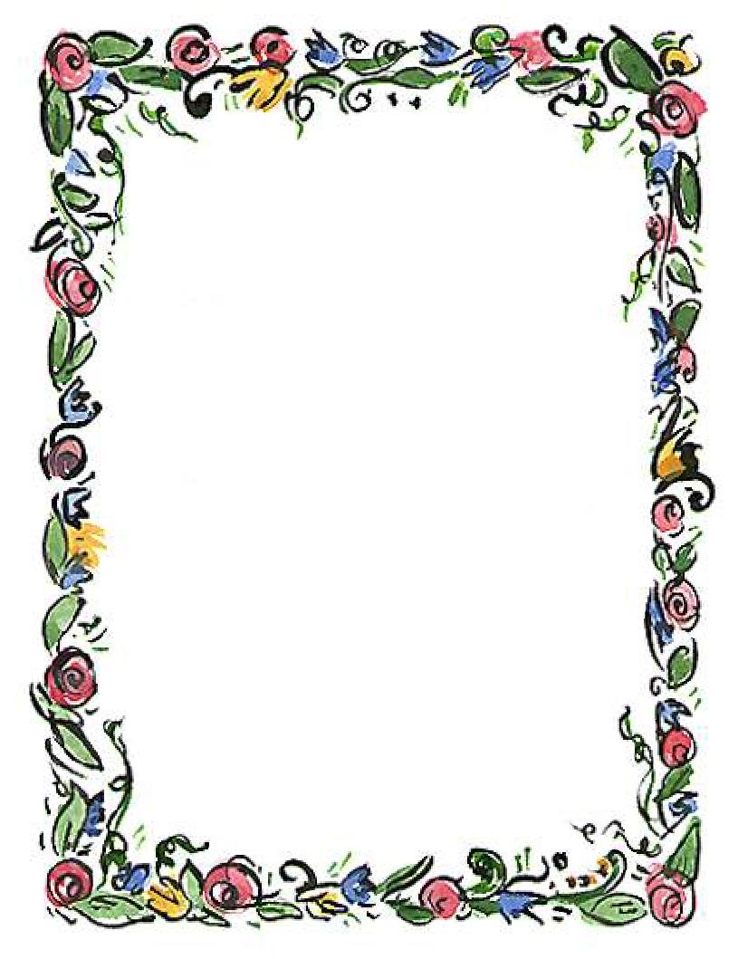 Free Spring Flower Border Clip Art N3 free image.
