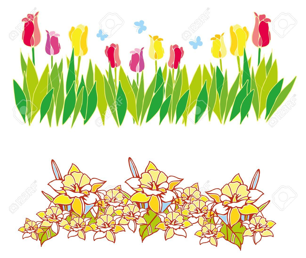 Spring Flower Border Clip Art For Free 101 Clip Art.