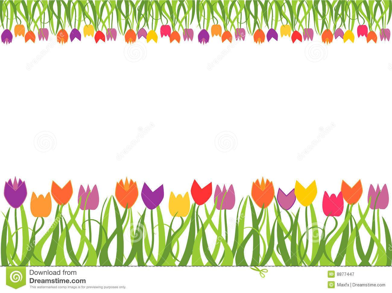 Spring flowers border clipart 6 » Clipart Portal.