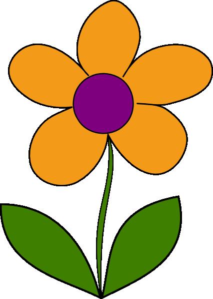 Orange Spring Flower Clip Art at Clker.com.