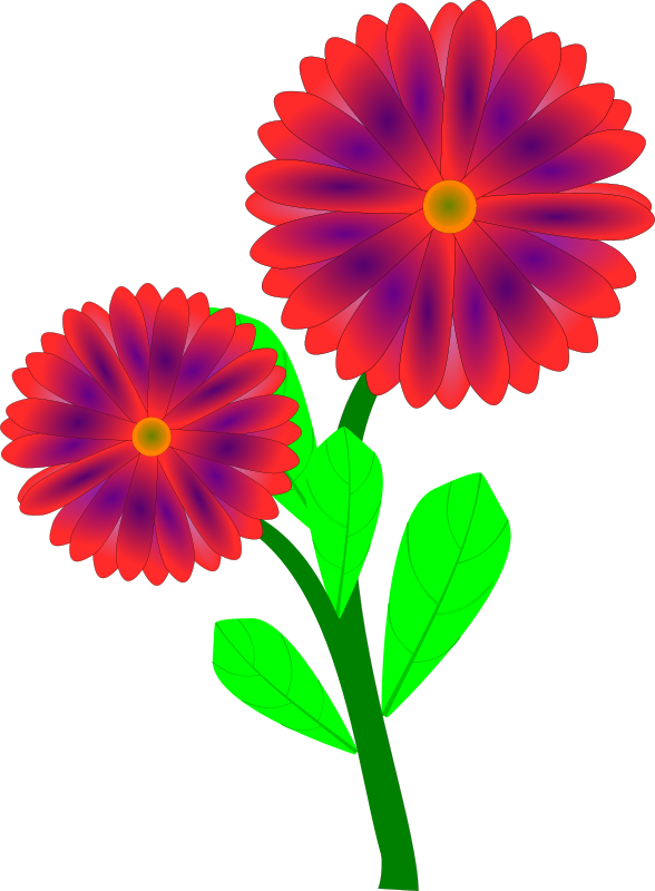 Spring Flowers Clip Art Free Printable.