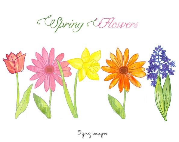 Free spring flower clip art.