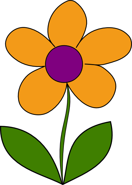 Orange Spring Flower Clip Art at Clker.com.