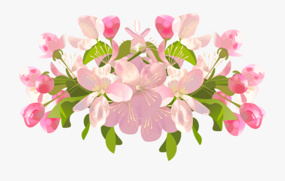 Flowers On Transparent Background.