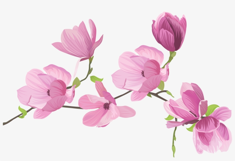 Spring Flowers Png Clip.