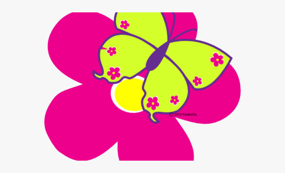 Adorable Clipart Cute Pink Butterfly.