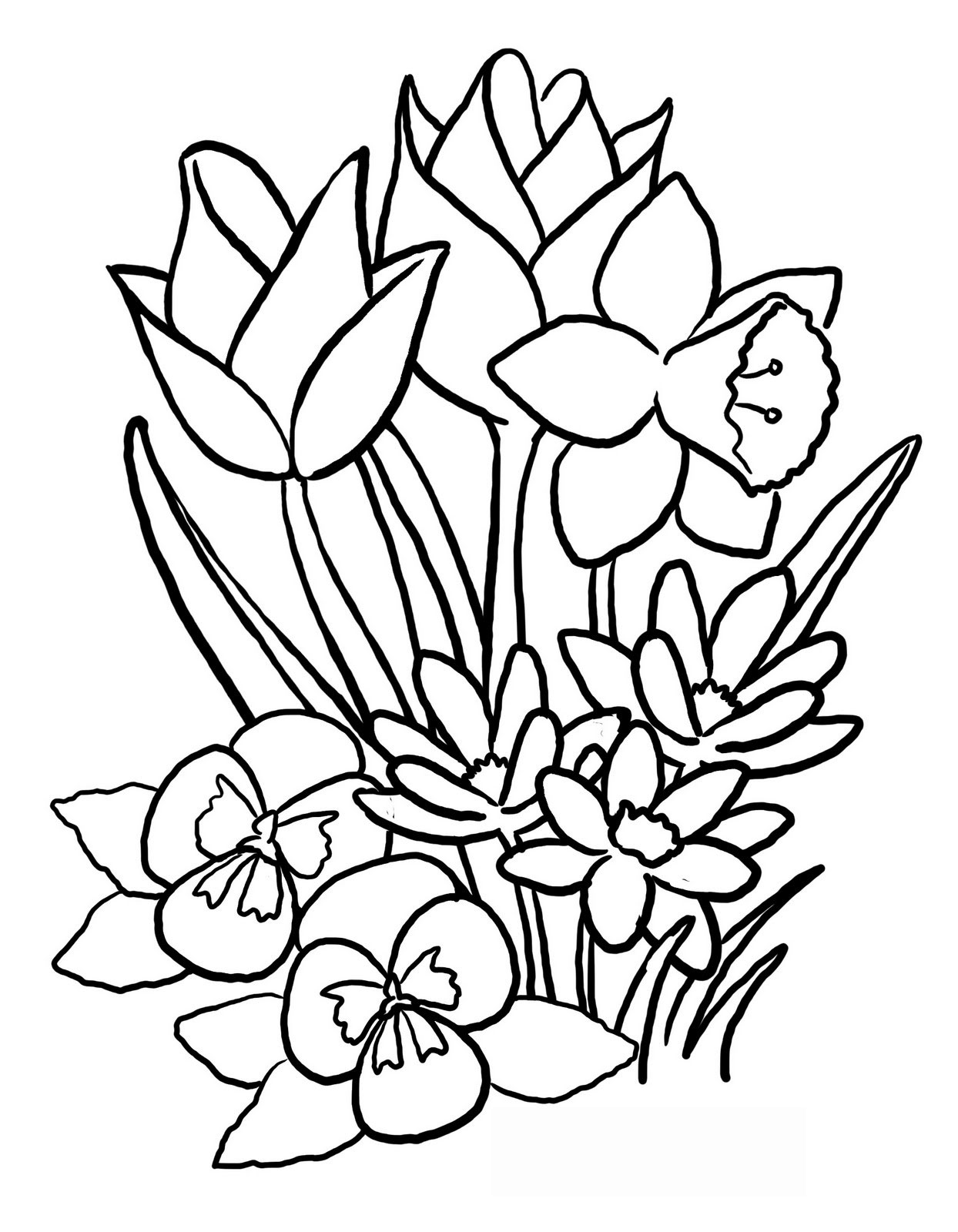 Free Drawings Of Spring Flowers, Download Free Clip Art.