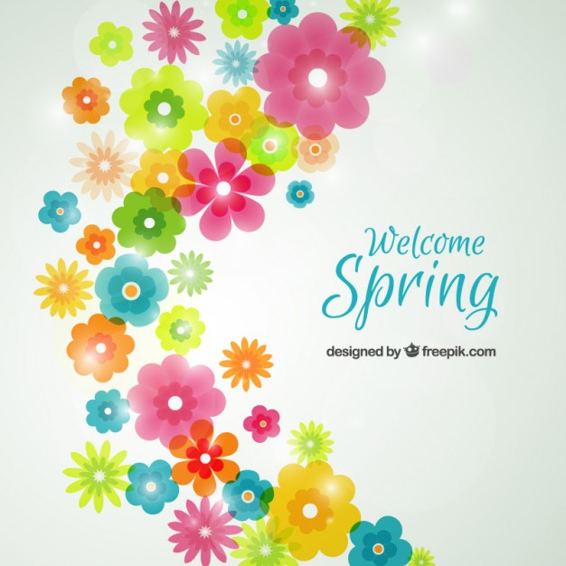 Spring flowers background Vector.