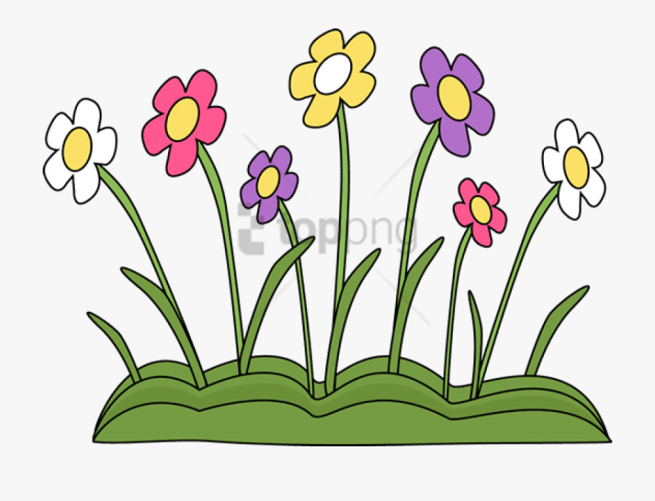 Spring Flowers Clipart Clear Background.