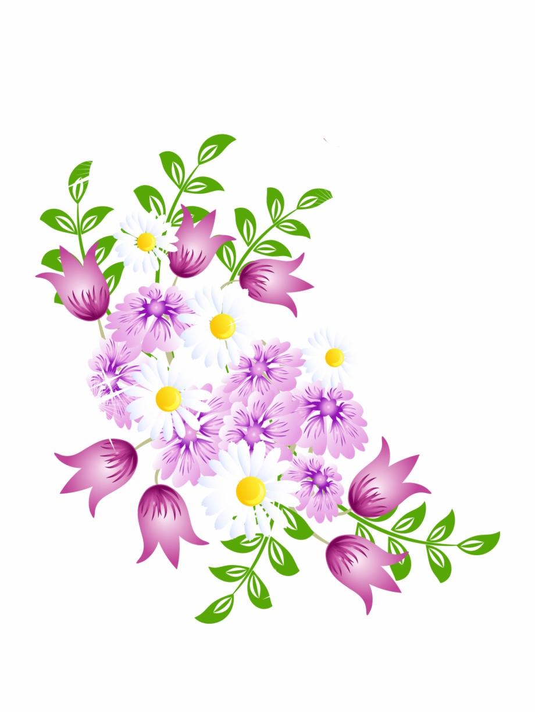 Springtime Floral Vector Graphics.