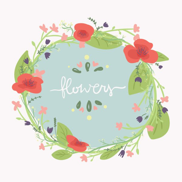 Spring Flowers Graphic Clipground